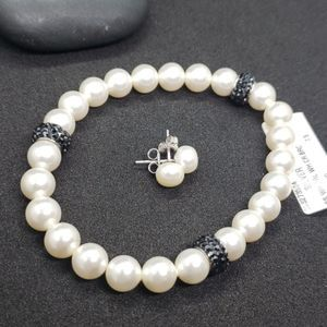 Jewelry - NWT faux pearl earring and bracelet set